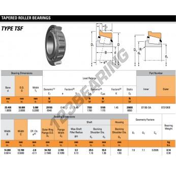 07100-SA-07210XB-TIMKEN - 25.4x50.8x5.08 mm