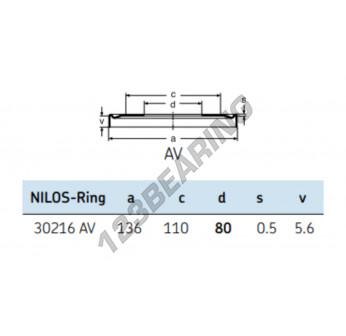 30216-AV-NILOS - 80x136x5.6 mm