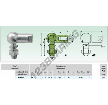 AS010M6SX - 10x11 mm