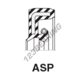 ASP-17.46X28.57X6.35-6.85-NBR - 17.46x28.57x6.35 mm
