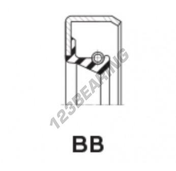 BB-23.81X38.10X6.35-FPM - 23.81x38.1x6.35 mm