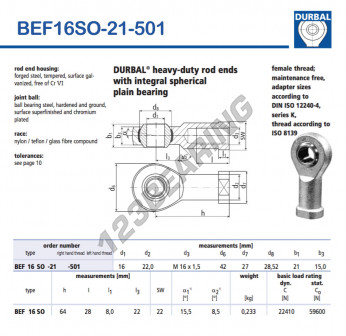 BEF16SO-21-501-DURBAL
