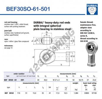BEF30SO-61-501-DURBAL