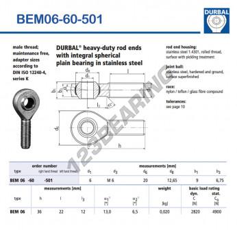 BEM06-60-501-DURBAL