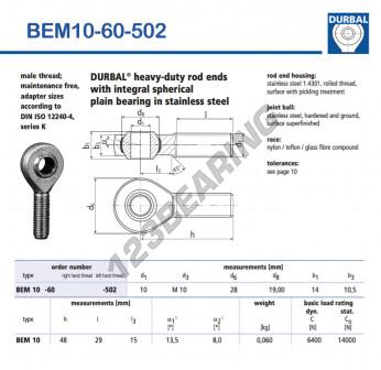 BEM10-60-502-DURBAL