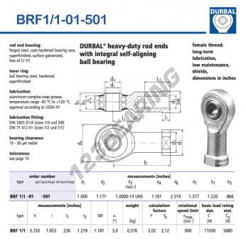 BRF1-1-01-501-DURBAL - 25.4x63.98x30.99 mm
