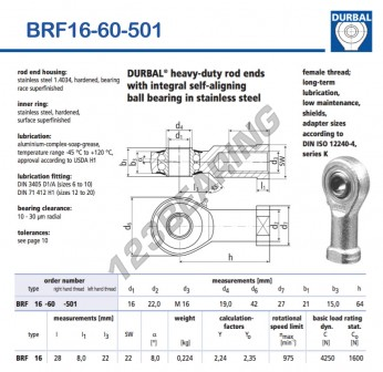 BRF16-60-501-DURBAL