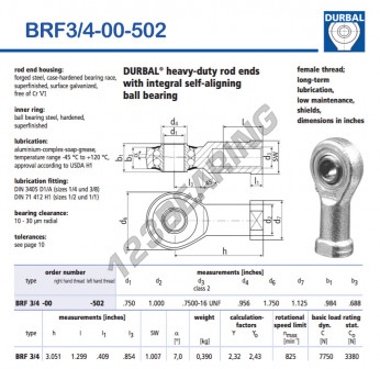 BRF3-4-00-502-DURBAL - 19.05x44.45x24.99 mm
