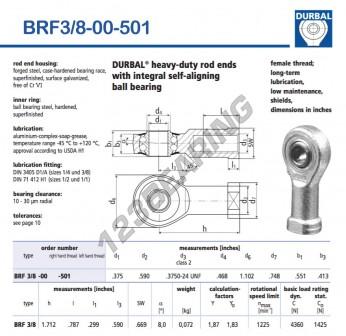 BRF3-8-00-501-DURBAL - 9.53x27.99x14 mm