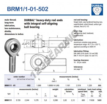 BRM1-1-01-502-DURBAL - x25.4 mm