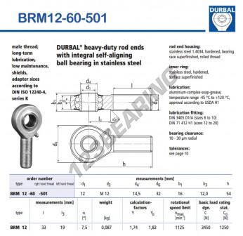 BRM12-60-501-DURBAL - x12 mm