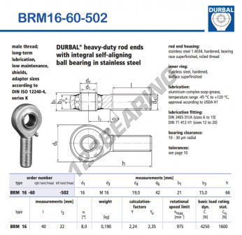 BRM16-60-502-DURBAL - x16 mm