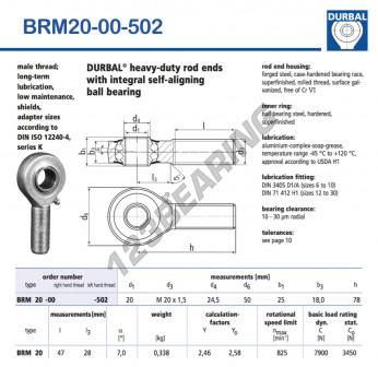 BRM20-00-502-DURBAL - x20 mm