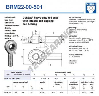 BRM22-00-501-DURBAL - x22 mm