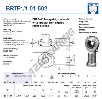 BRTF1-1-01-502-DURBAL - 25.4x63.98x30.99 mm
