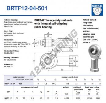 BRTF12-04-501-DURBAL - 12x32x16 mm