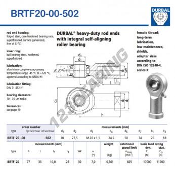 BRTF20-00-502-DURBAL - 20x50x25 mm