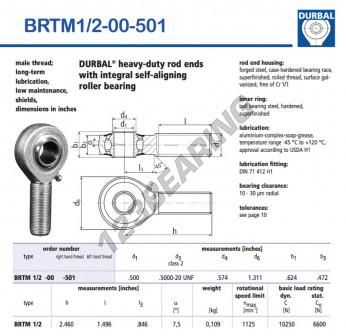 BRTM1-2-00-501-DURBAL - 12.7x33.3x15.85 mm
