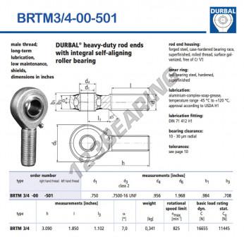 BRTM3-4-00-501-DURBAL - x19.05 mm