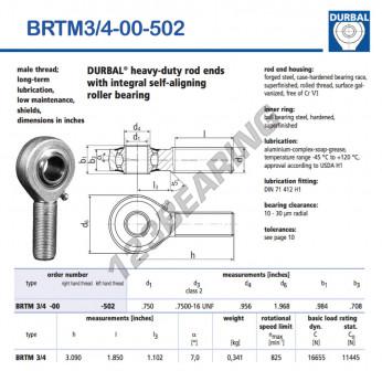 BRTM3-4-00-502-DURBAL - x19.05 mm
