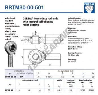 BRTM30-00-501-DURBAL - 30x70x37 mm