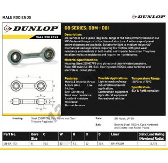 DB-SA-173-DUNLOP - 8x75x12 mm