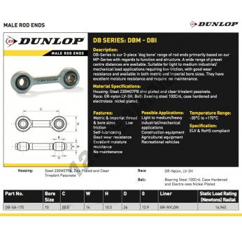 DB-SA-175-DUNLOP