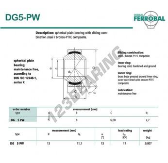 G5-PW-DURBAL - 5x13x6 mm