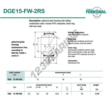 DGE15-FW-2RS-DURBAL