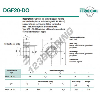 GF20-DO-DURBAL - 20x50x19 mm