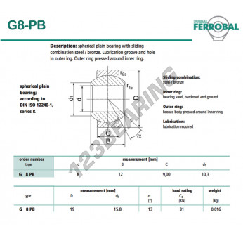 DG8-PB-DURBAL - 8x19x9 mm