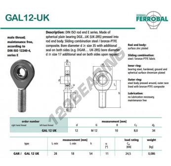 DGAL12-UK-DURBAL - x12 mm