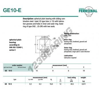 DGE10-E-DURBAL - 10x19x6 mm
