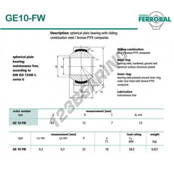 GE10-FW-DURBAL - 10x22x7 mm