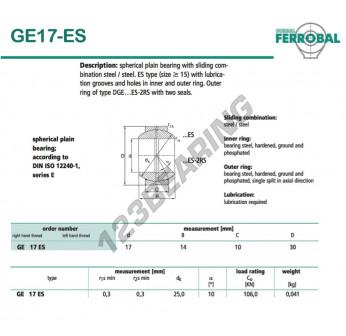 GE17-ES-DURBAL - 17x30x10 mm