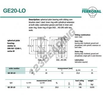 DGE20-LO-DURBAL - 20x35x12 mm
