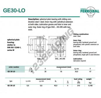 DGE30-LO-DURBAL - 30x47x18 mm