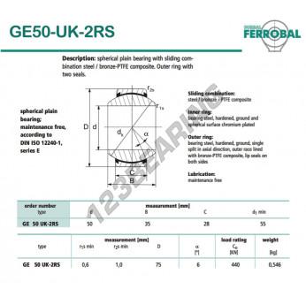 DGE50-UK-2RS-DURBAL