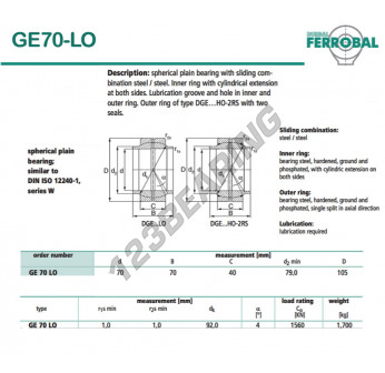 GE70-LO-DURBAL - 70x105x40 mm