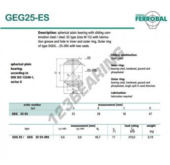 DGEG25-ES-DURBAL - 25x47x18 mm
