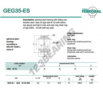 GEG35-ES-DURBAL - 35x62x23 mm