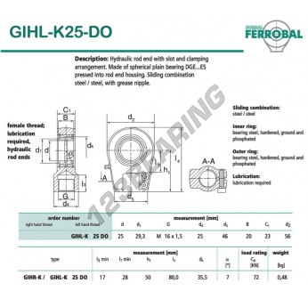 GIHL-K25-DO-DURBAL - 25x56x23 mm