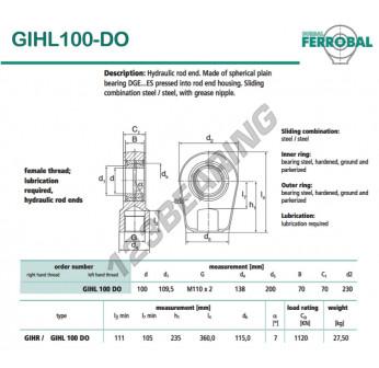 GIHL100-DO-DURBAL - 100x230x70 mm