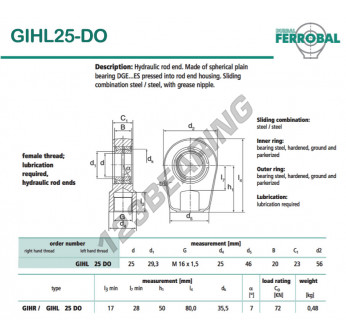 GIHL25-DO-DURBAL - 25x56x23 mm
