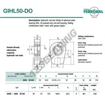 DGIHL50-DO-DURBAL - 50x116x40 mm