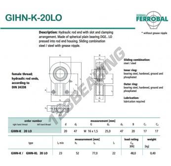 GIHN-K-20LO-DURBAL - 20x47x17 mm