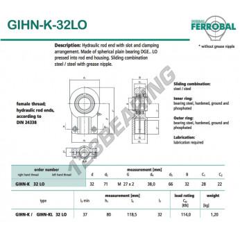 GIHN-K-32LO-DURBAL - 32x71x28 mm