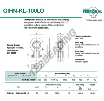 GIHN-KL-100LO-DURBAL - 100x210x84 mm