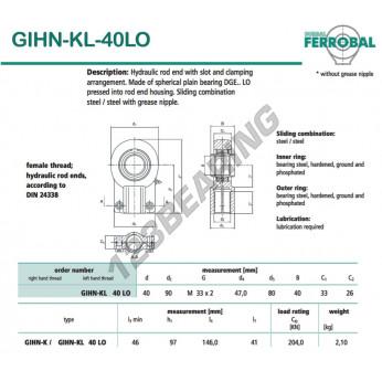 GIHN-KL-40LO-DURBAL - 40x90x33 mm