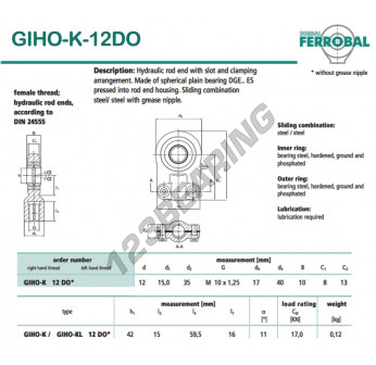DGIHO-K-12DO-DURBAL - 12x35x8 mm